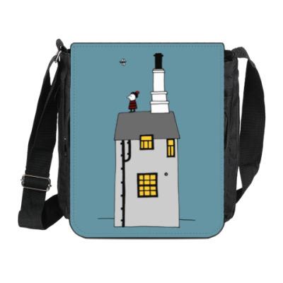Сумка на плечо (мини-планшет) Корнуольский домик