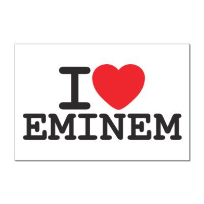 Наклейка (стикер) I love Eminem