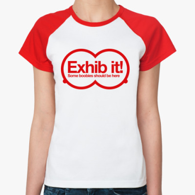 Женская футболка реглан Покажи сиськи