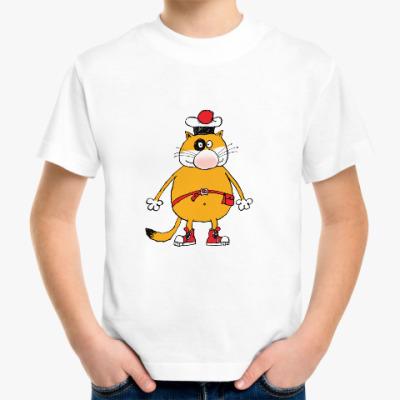 Детская футболка Кот Помпон грустный