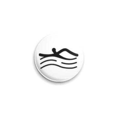 Значок 25мм  Плавание
