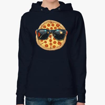 Женская толстовка худи Пицца
