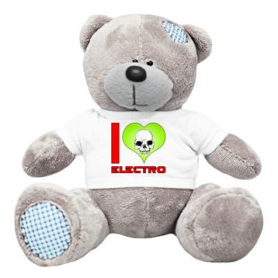 Плюшевый мишка Тедди I love electro