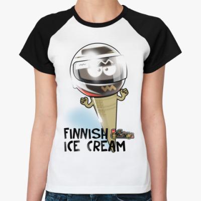 Женская футболка реглан Finnish Ice Cream