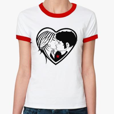 Женская футболка Ringer-T Kiss Forever