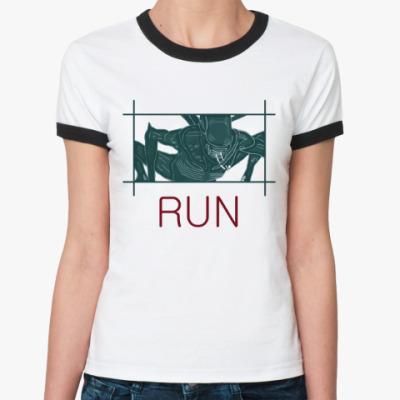 Женская футболка Ringer-T Чужой.Завет