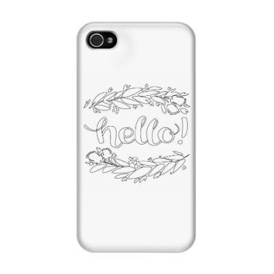 Чехол для iPhone 4/4s hello
