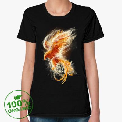 Женская футболка из органик-хлопка Птица Феникс Fenix bird