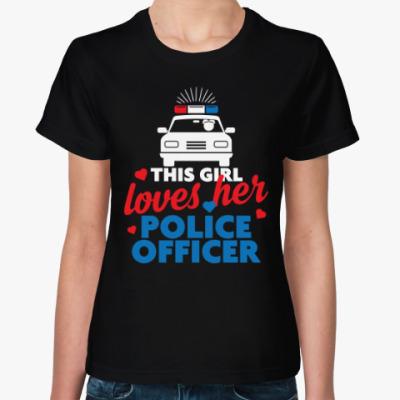 Женская футболка Люблю Полицейского