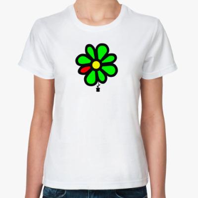 Классическая футболка  футболка  ICQ