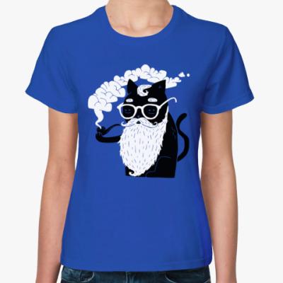 Женская футболка Усы и Трубка