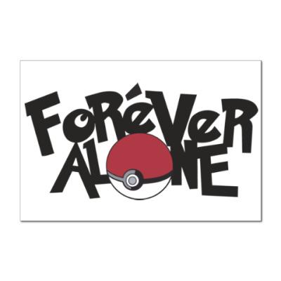 Наклейка (стикер) Вечно один