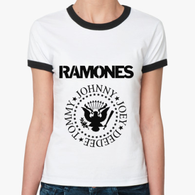 Женская футболка Ringer-T Ramones