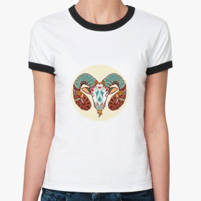 Женская футболка Ringer-T   Овен