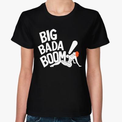 Женская футболка Бада Бум