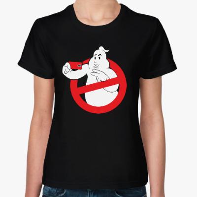 Женская футболка Selfie Duckface Ghost busters