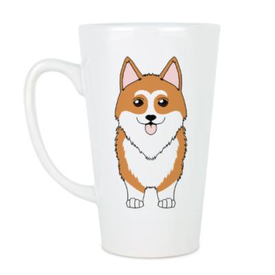 Чашка Латте Корги Рядом