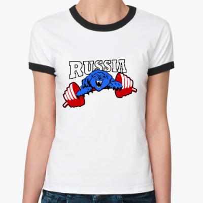 Женская футболка Ringer-T RUSSIA