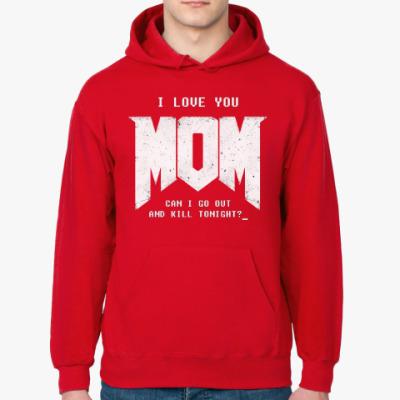 Толстовка худи I Love You MOM! в стиле DOOM