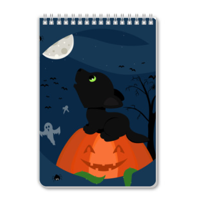 Блокнот Волчонок хэллоуина