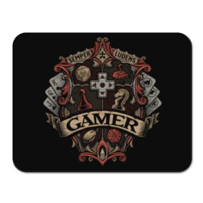 Коврик для мыши Герб Геймера Gamer