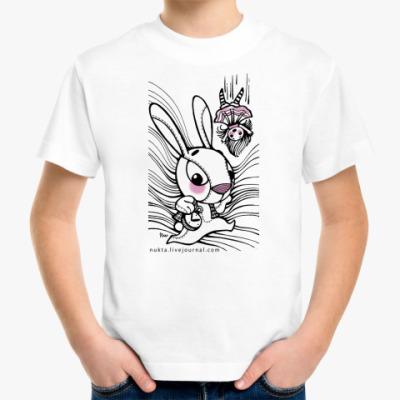 Детская футболка Белый кролик