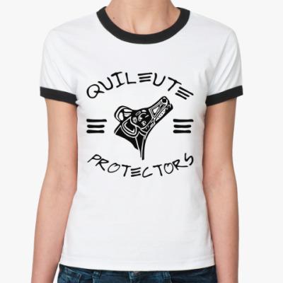 Женская футболка Ringer-T Quileute Pr  Ж()