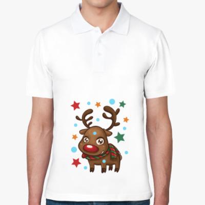 Рубашка поло Олень со звёздами