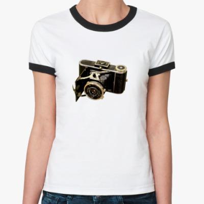 Женская футболка Ringer-T  Old Camera