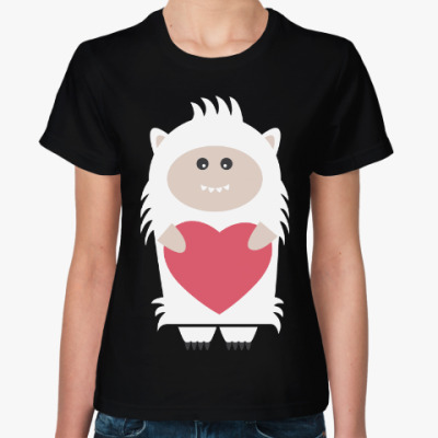 Женская футболка Снежный человек (Йети)