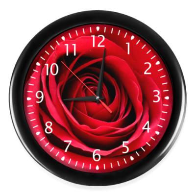 Часы Красная роза