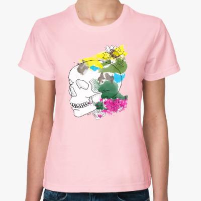 Женская футболка  Июльский череп