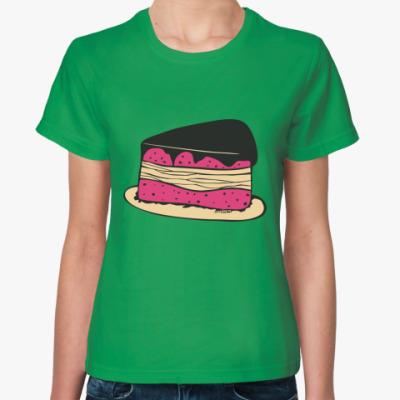 Женская футболка Торт