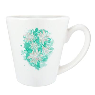 Бирюзовый цветочный орнамент