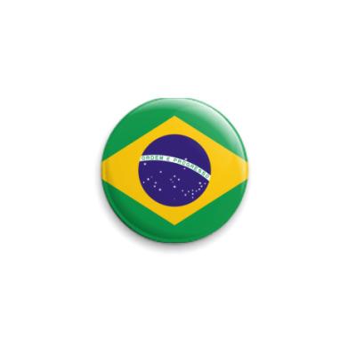 Значок 25мм  Бразилия ()