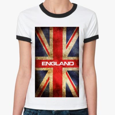 Женская футболка Ringer-T  Британский флаг