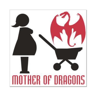 Наклейка (стикер) Мать драконов