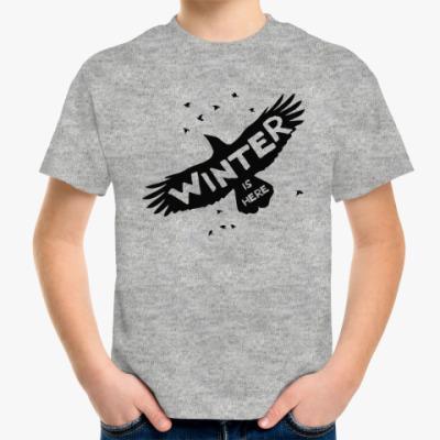 Детская футболка Игра престолов. Зима здесь