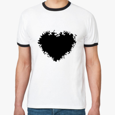 Футболка Ringer-T black heart