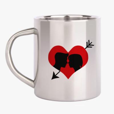 Кружка металлическая Сердце хочет любви