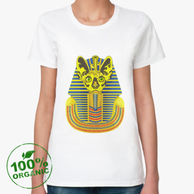 Женская футболка из органик-хлопка Кот фараон