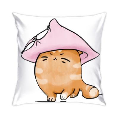 Подушка Кот Мягкот, рыжий живот!