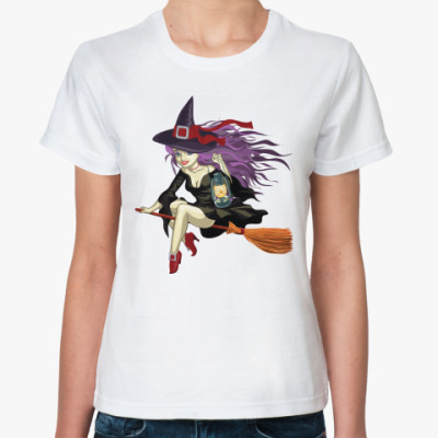 Классическая футболка Ведьмочка