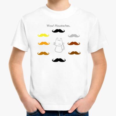 Детская футболка Усы!