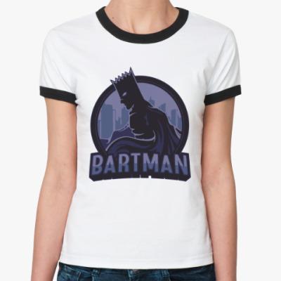 Женская футболка Ringer-T Bartman