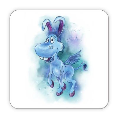 Костер (подставка под кружку) Happy the unicorn