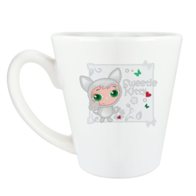 Чашка Латте Сладкий котенок