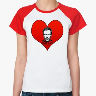 Женская футболка реглан House Heart