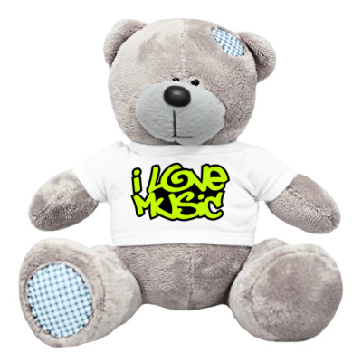 Плюшевый мишка Тедди I Love Music