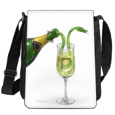 Сумка-планшет зелёный змей